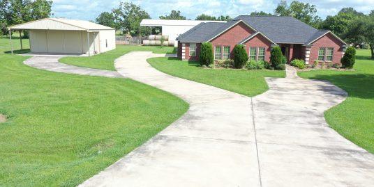 Custom built home on acreage.